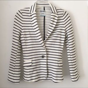 Old Navy Striped Jersey Blazer